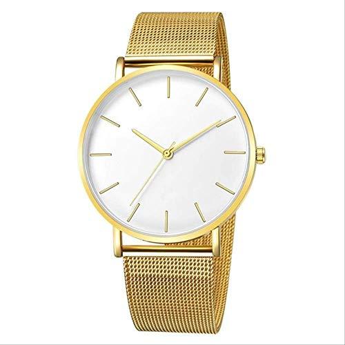 WFQ Uhr Moderne Damenuhr Trendy Schwarz Quarz Armbanduhr Einfache Mesh Uhren für Frauen Uhr für Frauen Mehrfarbig