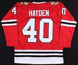 John Hayden Autographed Signed Chicago Blackhawks Jersey Beckett Coa Rookie Winger/Center
