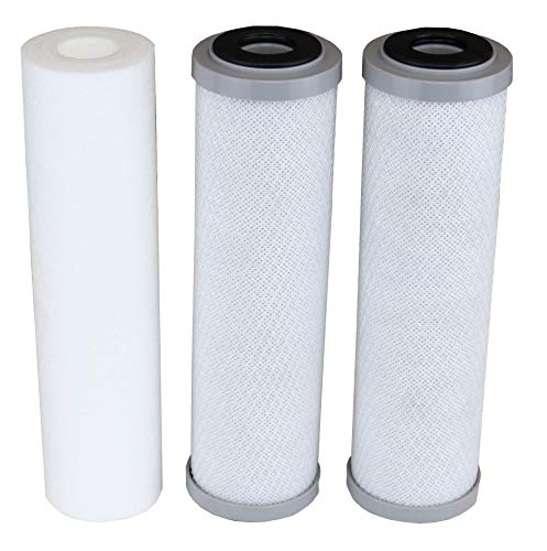 Compatible APEC Filter-Set Bottom 3 Filters for Model ROES-50, ROES-75, RO-45, RO-90, RO-PH90, RO-PERM, RO-Pump, RO-Hi, WFS-1000, ROES-UV75, ROES-PH75, ROES-PHUV75, ROES-UV75-SS, 1 Sediment, 2 Carbon
