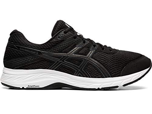 ASICS Men's Gel-Contend 6 Running Shoes, 11, Black/Carrier Grey