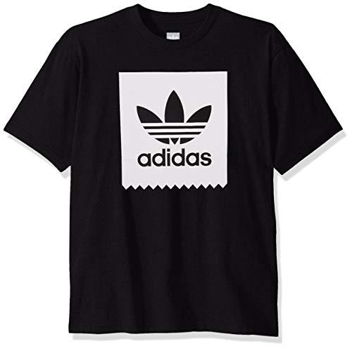 adidas Originals Herren Skate Solid Blackbird Tee Grafik, T-Shirt, schwarz/weiß, Klein