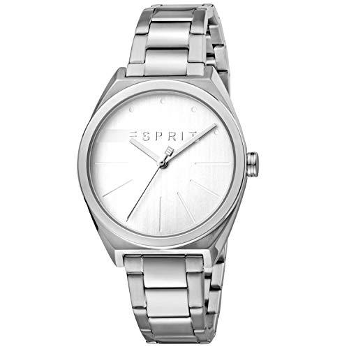 Esprit ES1L056M0045 Slice Uhr Damenuhr Edelstahl Edelstahl 3 bar Analog Silber