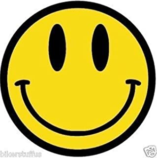 MFX Design Smiley Face Sticker Decal Small Bumpier Sticker Decal Vinyl - Made in USA 3 in. Round
