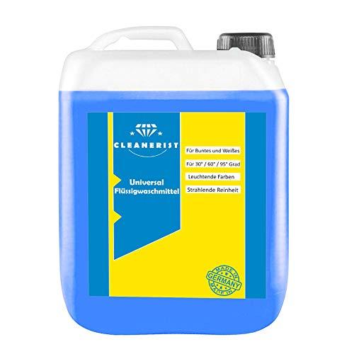 Cleanerist Flüssigwaschmittel Universal Waschmittel   10 Liter Vollwaschmittel Grosspackung   bis zu 250 Waschladungen color weiß schwarz