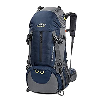 Hiking Backpack Esup 50L Multipurpose Mountaineering Backpack with rain cover 45l+5l Travel Camping Backpack Suitable for Climbing Skiing Outdoor Sport Perfect Fathers Day Gifts  Blue-50L