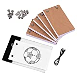 Juego de tablero para copiar Papel de dibujo Caja de luz LED Almohadilla de mesa Flipbook con tornillos de encuadernación Kit de libro abatible para accesorios de creación de bocetos