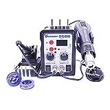 Soldador de hierro 8586 700W 2 en 1 SMD Solder Rework Station Hot Air Soldering Hierro for reparación de soldadura con herramientas de soldadura Regalos gratis Para soldadura (Color : SET-2)