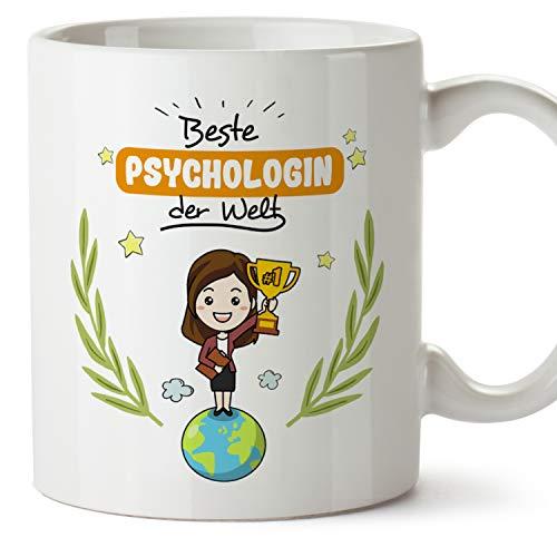 MUGFFINS Tasse/Becher Psychologin (Beste der Welt) - Lustige und Originelle Psychologie Geschenke