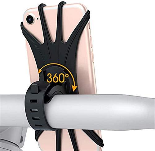 Handyhalterung Fahrrad handyhalterung motorrad 360 °Drehen Handy Halterung tisch für iPhone 11 Pro Max/Xs/8/7 Plus/6s, Galaxy S20/S10,Huawei P30 Lite/P20 /P40Pro usw 4.5 -6,5 Zoll Smartphone (schwarz)