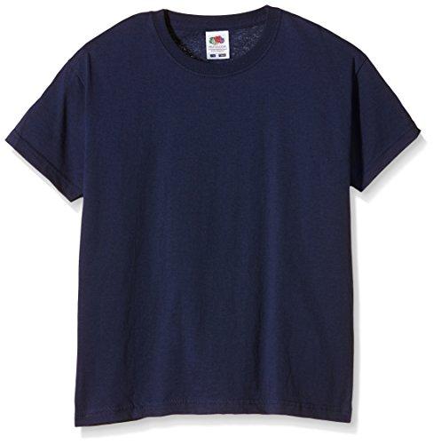 Fruit of the Loom - Camiseta de manga corta - Tripulación - Manga corta - para niño Azul azul (marino) XXXX-Small ⭐