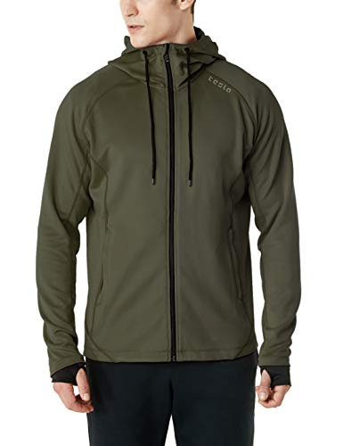 TSLA Men's Performance Active Training Full-Zip Hoodie Jacket,...