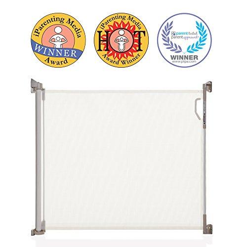 Dreambaby® (0-140cm) - Einziehbares/Einrollbares Tür- und Treppenschutzgitter für Babys und Haustiere. Extra-Hoch, Versetzbar, geeignet für den Innen- und Außenbereich. 2019 Version! (Weiß)