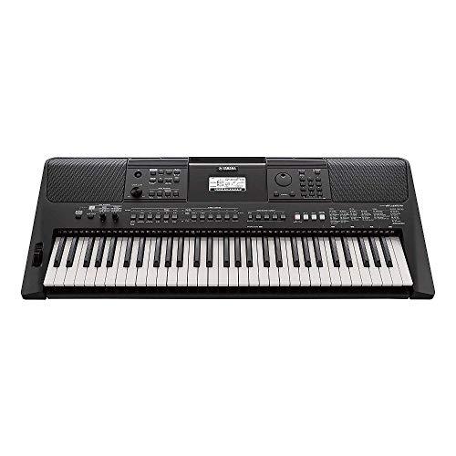 Yamaha PSR-E463 - Teclado digital portátil para principiantes, optimo para interpretar cualquier estilo de música, con 61 teclas, color negro
