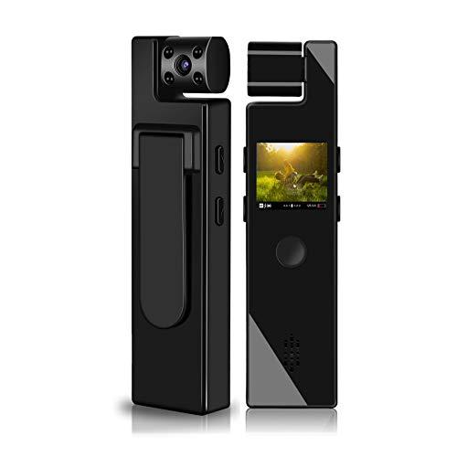 Mini Kamera Überwachungskamera Action Kamera Videokamera 1,2-Zoll-Bildschirm1080P Tragbare Kleine Mikro Nanny Cam mit Bewegungserkennung Compact Sicherheit Kamera für Innen und Aussen