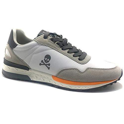 SCALPERS Harry, Sneakers, para Hombre, Color Blanco - Piel/Textil Talla: 40