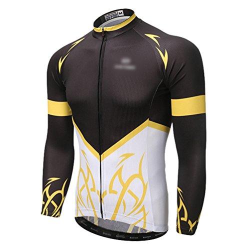 Baymate Hiver Jersey Maillot de Cyclisme Manche Longues T-Shirt Vélo Veste Unisexe Vêtements de Cyclisme Respirant