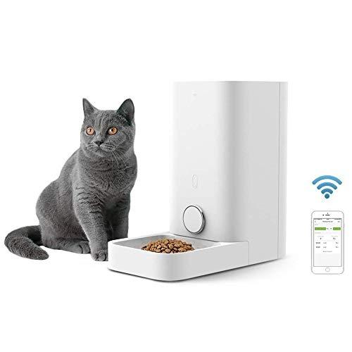 WLDOCA 2.85L Automatischer Futterspender, Automatische Futterspender Für Katzen Hunden Geeignet Nur Für Katzen Futterautomat mit App,Fernbedienung Smart Cat Feeder