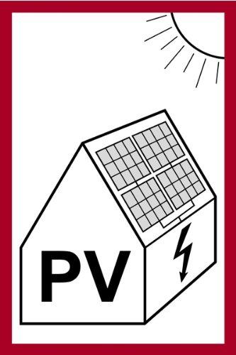 Aufkleber PV mit Symbolik, für Solaranlagen 150x100mm