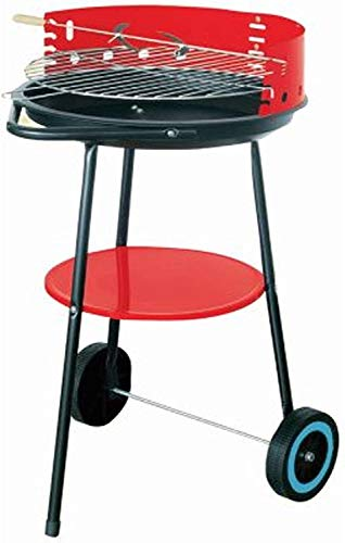 Barbecue Coal BBQ 17' Garden Camping Patio Round Rotisserie Spit Grill...