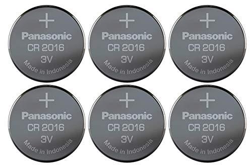 Hückmann Panasonic CR2016EL/6B Lithium Power (Lagerfähigkeit bis zu 10 Jahre, Lithium, 3,0 V, 90 mAh) 136561