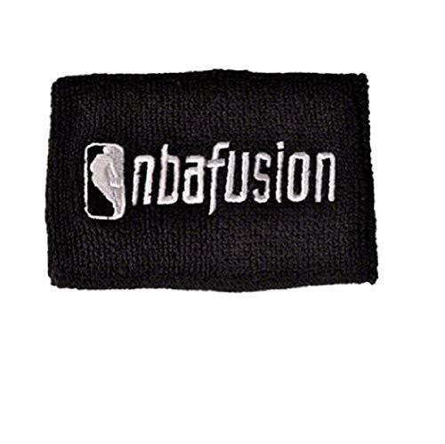 adidas–Muñequeras cabeza muñeca banda negro Terry de la NBA, Black - black
