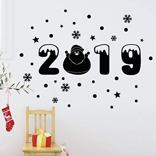 XCWQ muurstickers, motief: Vrolijk kerst, sneeuwvlokken, muurstickers, decoratie voor huis, bedrijf