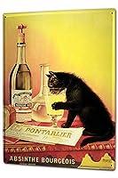"""アンティーク 看板 Party Retro Absinthe Bar Pub Restaurant室内装飾家、パブ、ビール、ガレージ、庭、コーヒー、寝室、リビングルーム8x12"""""""