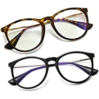 SUNGAIT Vintage Round Blue Light Blocking Glasses