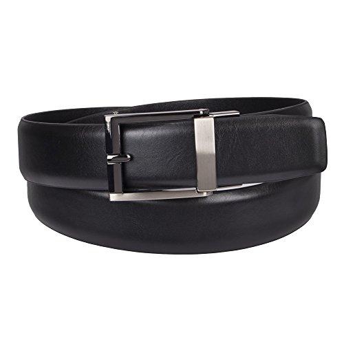 Kenneth Cole REACTION Men's 1.3 in. Wide Adjustable Trackless Perfect Fit Slide Belt, black, Medium