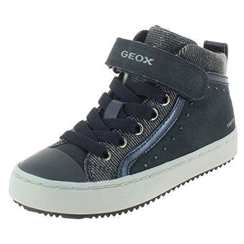 Geox Mädchen J Kalispera Girl I Hohe Sneaker, Blau (Navy), 33 EU