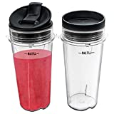 Nutri Ninja 16 oz Cups with 2 Seal Lids for BL770 BL780 BL660...