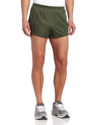 Soffe Men's Ranger Panty Running Short,Od Green,X-Large