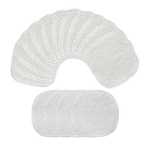 Eyscoco Tampons d/émaquillants,12 Pi/èces Coton Demaquillant Lavable,Tampons D/émaquillants Bio en Bambou R/éutilisables,Parfait pour le d/émaquillage et le nettoyage du visage