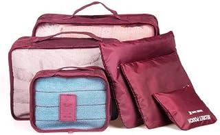 مجموعة حقائب تخزين وتنظيم للملابس في حقائب السفر، 6 قطع