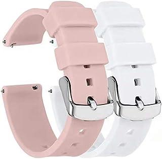 Fengyiyuda 2 Piezas Repuesto de Correa 18MM Watch gt2/gt,Reloj de Correas Garmin Active S,Silicona Reemplazo Correa con/Ga...