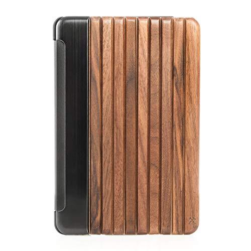 Woodcessories - Hülle kompatibel mit iPad Mini 4 aus Holz - EcoGuard (Walnuss, schwarz)