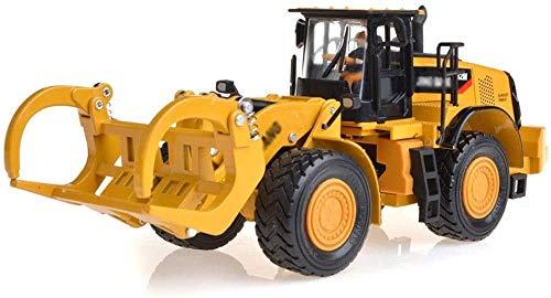 ZHANGL Una y cincuenta aleación Grab Juguete de madera del coche modelo de coche de ruedas de metal del carro de plataforma de simulación de coches de juguete Colección decoración puede deslizarse reg