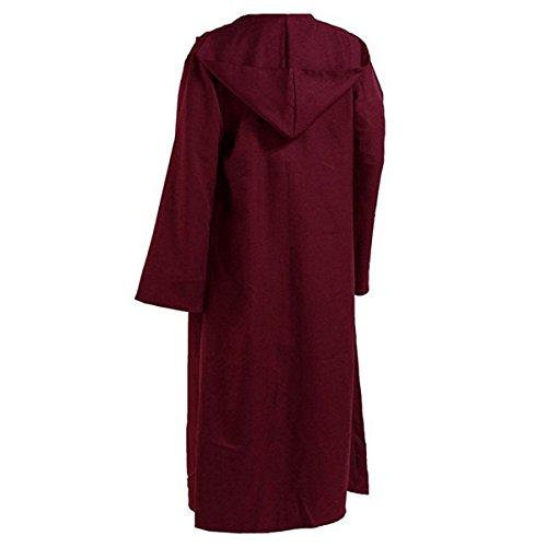 Huntfgold Disfraz de caballero con capucha para hombre