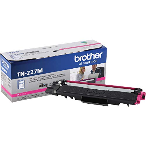 Brother Genuine TN227M, High Yield Toner Cartridge, Replacement Magenta Toner, Page Yield Up to 2,300 Pages, TN227, Amazon Dash Replenishment Cartridge
