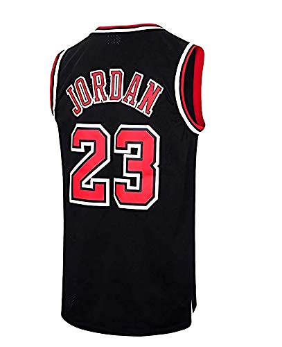 Herren NBA Chicago Bulls Basketball Trikot - Michael Jordan # 23 Retro Basketball Swingman Trikot (Schwarz, S)