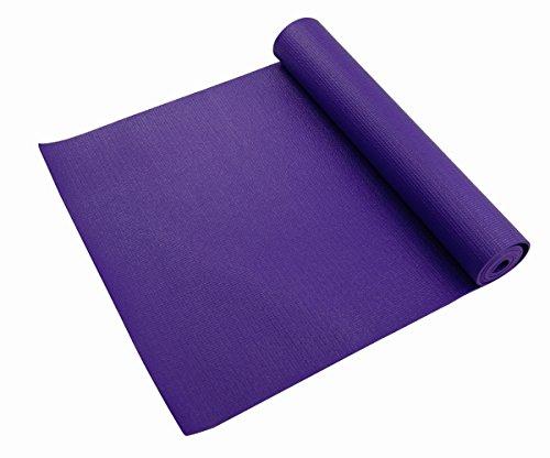 Livingreen -Tapete de Yoga 61Cm X 181Cm X 4Mm Color Morado Multiusos de Alta Densidad Antideslizante - Acolchado Muy Confortable - Yoga Mat Tapete Para Hacer Ejercicio -Tapete Para Gimnasio