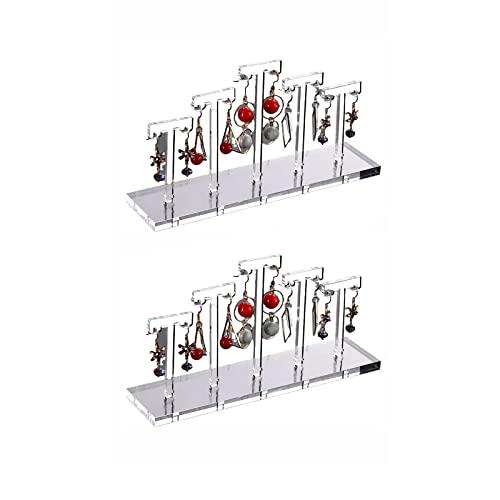 Honton Soporte de exhibición de pendientes de acrílico para pulseras, collares y anillos (transparente)