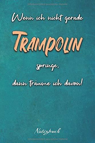 Wenn ich nicht gerade Trampolin springe, dann träume ich davon!: Ein Notizbuch für Kinder die gerne Trampolin springer | 120 karierte Seiten für deine ... | 6x9 Format (15,24 x 22,86 cm)