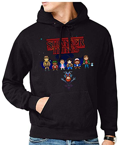 Sudadera de Hombre Stranger Things Once Series Retro 80 Eleven Will 014 2XL
