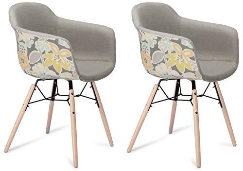 Furnhouse gamingstoel wit bureaudraaistoel, poten: kunststof 59x57x80 grijs, geel/natural legs.