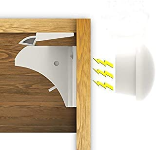 Magnetic Baby Safety Locks for Cabinets & Drawers -12 Locks + 3 Keys + Installation Cradle