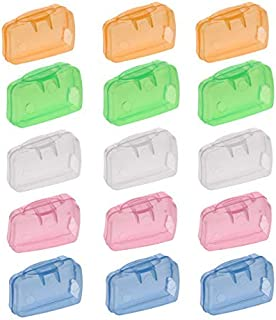 Toothbrush Covers Head Caps Toothbrush Holder Case Travel Container for Travel Camping Business Trip 15PCS Toothbrush Cover