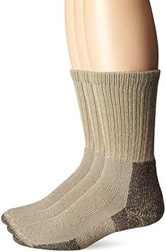 Thorlos Mens Hiking Maximum Cushion Crew Socks 3 Pair Pack, with Helicase sock rings