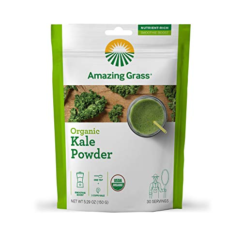 Amazing Grass Kale Greens Booster: Greens Powder, Smoothie Booster with Vitamin A & Vitamin K, 30 Servings