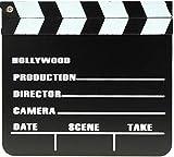 marion10020 Clapperboard Filmklappe Regieklappe Film Slate Regie-Klappe Klappe, 20 x 18 cm